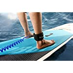 Unigear premium sup leash 10' coiled stand up paddle board surfboard leash stay on board with waterproof phone case/wallet 14 more strong and safe: this leash is made of super strong 7mm urethane cord, strong enough to handle the longest and heaviest boards, but since it is designed for flatwater paddling it is lightweight and flexible. New molded-in double stainless steel swivels, plus a triple wrap rail saver more comfortable and easy to use: made of tpu elastic polyurethane with soft sponge, you will forget you are wearing it. The super comfortable double over ankle cuff has an easy pull tab with a hidden key pocket. It is easy to attach to your board and prevents rail wear or dings more durable: connection hardware made of durable stainless steel, which can be able to resist the sea water corrosion for a very long time; you don't need to change the surf leash frequently