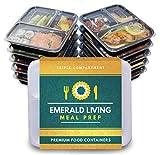 Recipientes para comida preparada, con 3 compartimentos, sin...