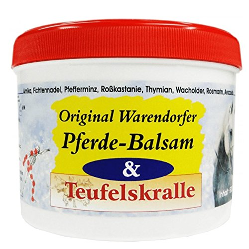 Warendorfer Pferdebalsam mit afrikanischer Teufelskralle - wärmende Pferdesalbe mit natürlichen Inhaltsstoffen und ätherischen Ölen - erfrischend und vitalisierend (500ml)