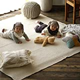 イブル風 キルティングマット クラウド 柄 180×180cm ベージュ cucan ミルクホーム MILKHOME イブル キルティング マット 正方形 おしゃれ 継ぎ目なし 洗える 2畳 リビング キッズ 子供部屋 赤ちゃん部屋 ベビールーム