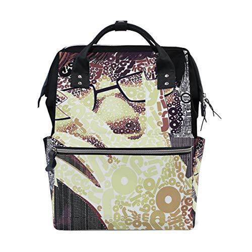 DEZIRO Canvas Guy het dragen van glas schilderij Daypack voor vrouwen rugzakken