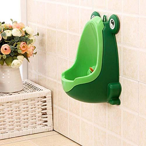 Aeromdale Frog enfants Potty Toilettes formation enfants Urinoir pour garçons Pee Trainer de salle de bain Vert