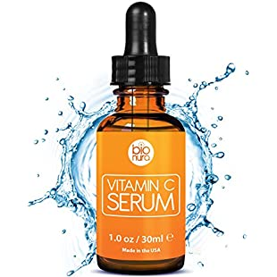 Bionura Vitamin C Serum with 20% Vitamin C + Hyaluronic Acid + Vitamin E + Jojoba Oil. The Best Anti Wrinkle and Anti Aging Serum Proven To Reduce Wrinkles And Fine Lines, Repair Sun Damage & Stimulate Collagen. Great for use with a Derma Roller.