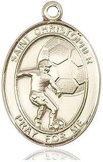 Christopher//Football Pendant DiamondJewelryNY 14kt Gold Filled St