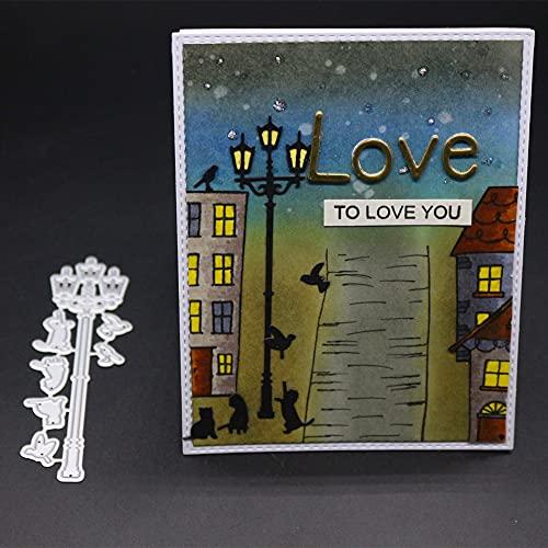 Birds and Lamp Cutting Dies Cut Metal Scrapbooking Stencils Die for DIY Embossing Photo Album Decorative DIY Paper Cards Making Craft