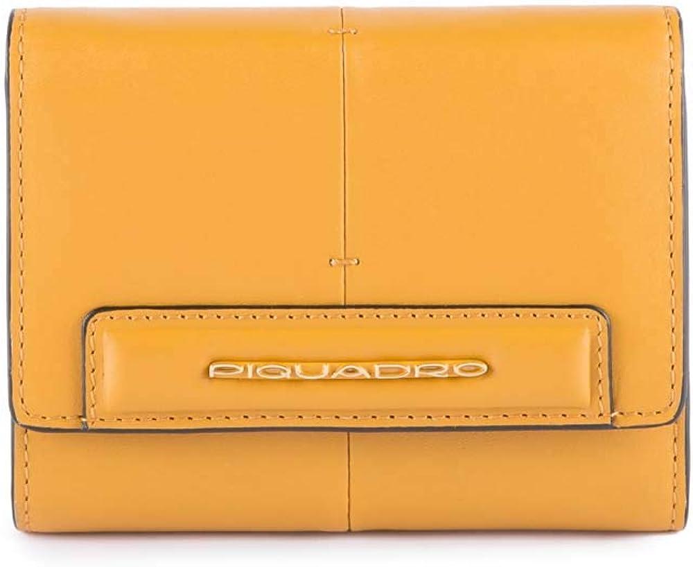 Piquadro, porta carte di credito, portafogli per donna, in pelle PD4145SPLR