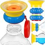 MONEE Sippy Cup and Toddler Cups Cap 2.0 - Turn Store-Bought Bottles into 360 cups for Toddlers, Toddler Sippy Cups or Kids Sippy Cups Instantly with Cap. 360 Cup Baby Bottles Cap is Spill-Proof