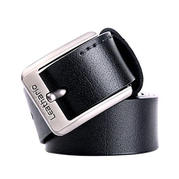 516chA1y1WL. SS600  - Leathario Hombres Cinturón de Cuero Correa Cinturones de Piel Diseñado para caballero
