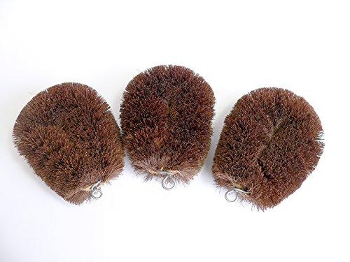 【まーぶる刷子】 和歌山県産棕櫚の木使用・高級シュロたわし3個