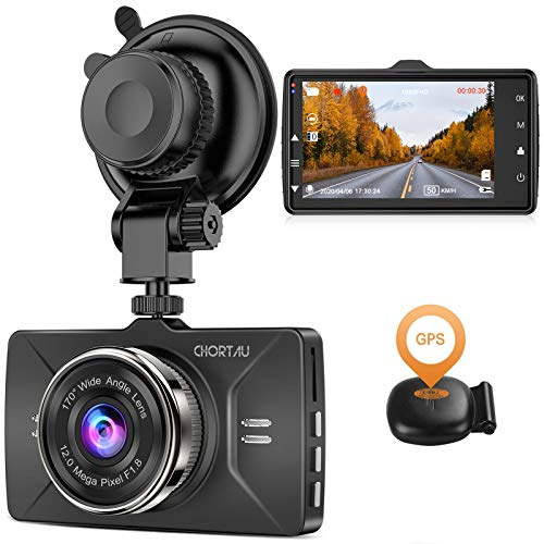 【2020 Nouvelle Version】 CHORTAU Dashcam Voiture GPS Full...