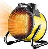 Interior / Outdoorpatio calentador, 2 kW Calefacción auxiliar del ventilador del calentador, a prueba de agua de alta densidad neta con función de múltiples funciones portable del calentador,Amarillo