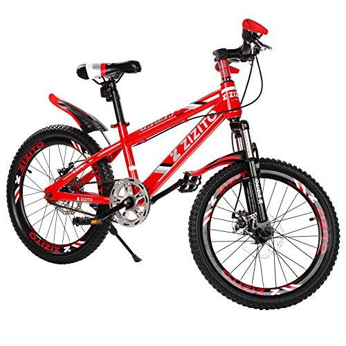 Kinderfahrrad [18 Zoll Grün/ 20 Zoll Rot] Jungen Geschenk Fahrrad ab 7 Jahre mit Fahrradstand Fahrrad Kinder…