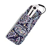 Vera Bradley womens Signature Cotton Heat Resistant Curling & Flat Iron Holder Travel Accessory, French Paisley, One Size US