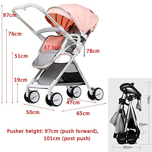 Lowest Price! Cylficl 0-3 Year Old Baby Stroller Can Sit Reclining Light Folding Hand Push Umbrella ...