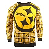 BIG NFL Ugly Sweater Pullover Christmas Pittsburgh Steelers Logo Weihnachtspullover -