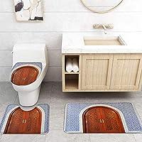 ZGDPBYF 浴室用アップホームバスマット木製ドアタイルプリントバスマットシャワーフロア用カーペットバスタブマット