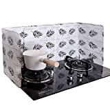 2 Pieces Anti Splatter Shield Guard Oil Splatter Screen Board Aluminum Foil Oil Block Oil Barrier Oil-Proof Splash Kitchen Tool for Cooking