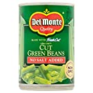 Del Monte Cut Green Beans No Salt Added, 14.5-Ounce (Pack of 8)