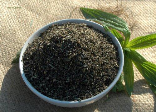 Naturix24 – Spitzwegerich Tee, Spitzwegerichblätter geschnitten – 500g Beutel