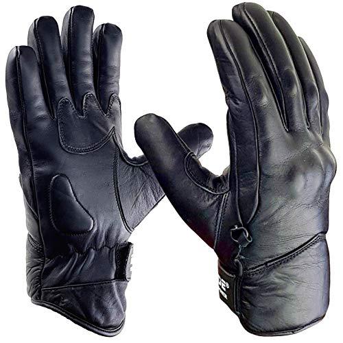 Waxer korte winter motorfiets lederen handschoenen gewricht behuizing