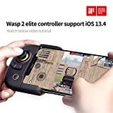 Flydigi Wasp 2 Elite One-Handed Mobile Gaming Controller for Android and iPhone-Support iOS 13.4, Watch Video Tutorial Below for iOS 13.4 use