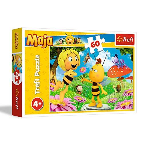 Trefl 17330 Puzzle, Eine Blume für Maja, 60 Teile, für Kinder ab 4 Jahren