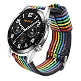 Estuyoya - Pulsera de Nailon Compatible con Huawei Watch GT 2 / Huawei Watch Sport/GT Clas...