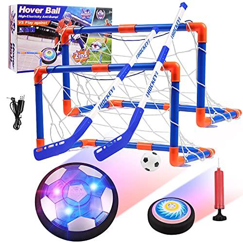 Diealles Shine Balón Fútbol Flotante Pelota de Air Fútbol con Protectores de Espuma Suave y Luces LED, Juguete Deportivo para Niños de 3, 4, 5, 6, 7, 8, 9-12 Años