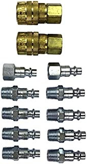 "Milton (S-210) 1/4"" NPT M-Style Coupler and Plug Kit, (12-Piece)"