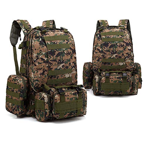 YATB Outdoor Backpacks Army Camouflage Tactics Backpacks Multi-functional Packages (Jungle Digital Camo)