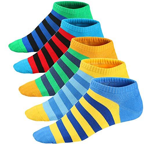 Ueither Calcetines Estampados Hombre Casuales Divertidos Calcetines Corto de Colores con Algodón Fino (39-46, Color 4)