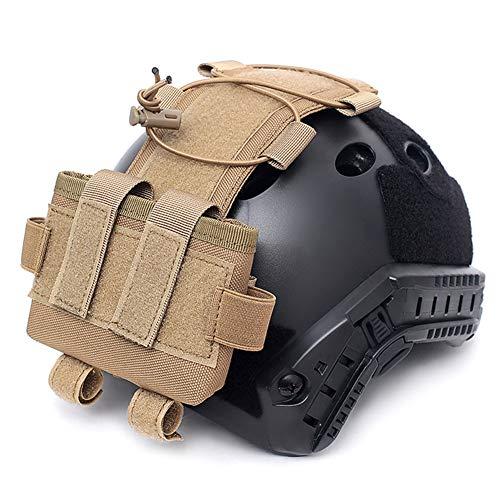 WTZWY Tactical Helmet Pouch MK2 Battery Box Contrapeso Bolsa Remote Battery Helmet Accesorio Bolsa de Almacenamiento con Gancho y Lazo para Cazar Paintball,T