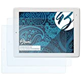 Bruni Schutzfolie kompatibel mit Xoro TelePad 9730 XOR400560 Folie, glasklare Bildschirmschutzfolie (2X)