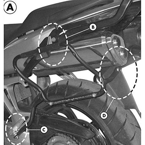 Kappa – Honda VFR 800 VTEC (02 > 09) TELAIO per valigie Laterali monokey Side