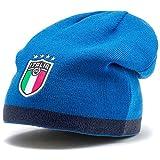 PUMA FIGC Reversible Beanie Gorro, Hombre, Peacoat-Team Power Blue Team Gold, OSFA