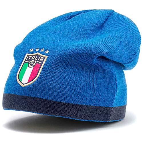 PUMA FIGC Reversible Beanie, Berretto Uomo, Peacoat/Team Power Blue Team Gold, Taglia Unica