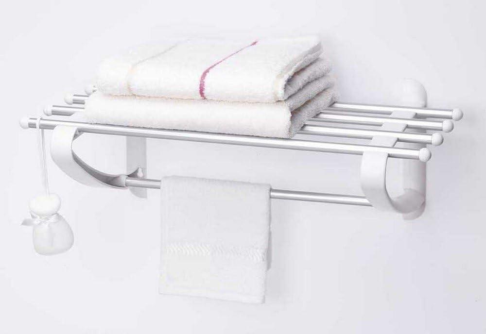 Primanova Wall Mounted Bathroom Towel Shelf Rail Holder Hanger Storage Rack Rustproof 53cm