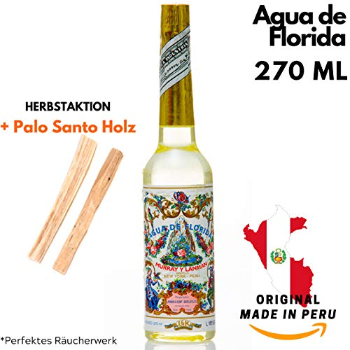 Agua de Florida de Aktion, 270 ml, Spirit Florida Water, original Murray & Lanman de Perú, para hombre y mujer. Un colonia, un aroma que refresca y revitaliza nuestros sentidos.