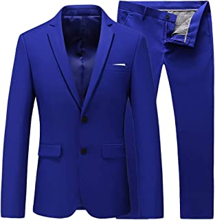 Mens 2 Piece Wedding Tuxedo Prom Dress Party Suit Slim Fit