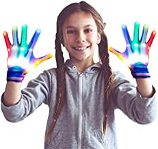 dmazing Gifts for 3-12 Year Old Girls, Led Gloves for Kids Festival Party Supplies Costume Cosplay Cool Toys for 3-12 Year Old Girls for Kids Medium