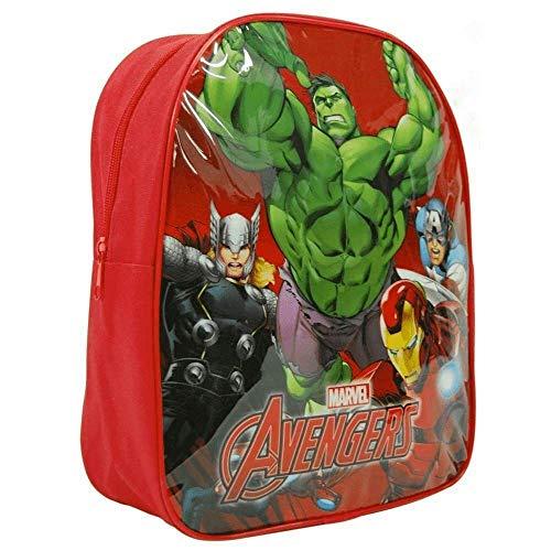 Iron Man, Hulk, Thor and Captain America Marvel Avengers Backpack Nursery School Bag, 26cm, Small