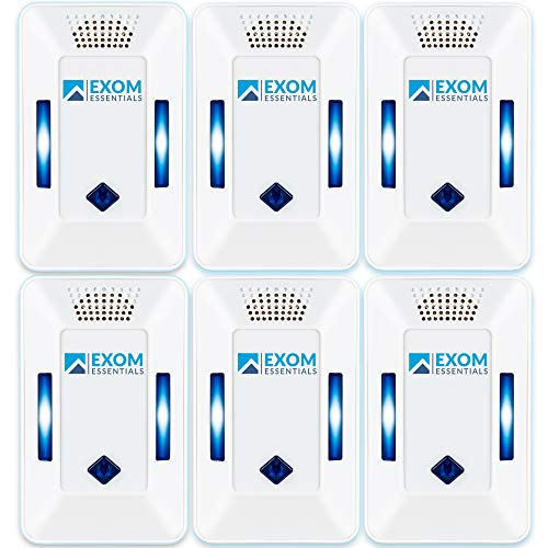 ES-2, (6 Pack) Ultrasonic Pest Repeller Wall Plug-in Most Effective than Repellents - Get Rid Of - Rodents, Squirrels, Mice, Rats, Bats, Roaches, Ants, Spiders, Bed Bugs, Мosquito, insects, Fleas!
