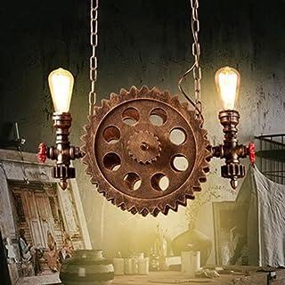Mrdsre Creative Gear Kute Pieczenie Retro Metalowa Lampa Wisząca, Restauracja Hotel Oświetlenie Lampa Salon Loft Industria...