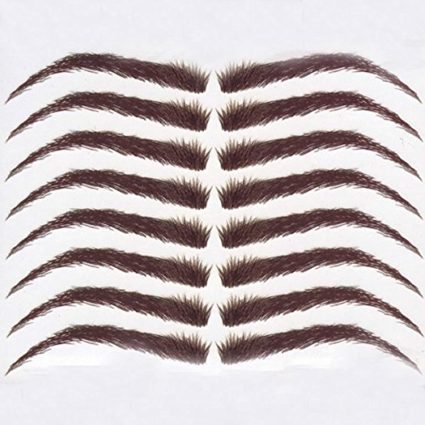 Cardani Eyebrow Tattoos #22: Full Brow & Soft Angled Arch Eyebrow Tattoos #22 (Dark Brown)