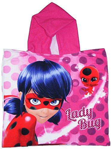 Suncity Ladybug Poncho Toalla con Capucha, Multicolor, Infantil ✅