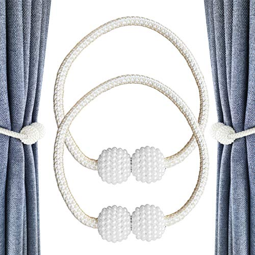CUKCIC Magnetische Vorhang Raffhalter Perle Kugel-Style Vorhang Binder Vorhang Seil Holdback Vorhang Halter Schnallen