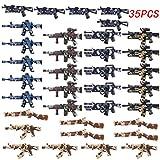 FutureShapers 35St. Set de Armas Personalizadas para los Soldados de la policía. Figuras del Equipo SWAT, Coinciden con el Lego.