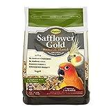 Higgins Safflower Gold Natural Food Mix for Conures & Cockatiels, 3lbs