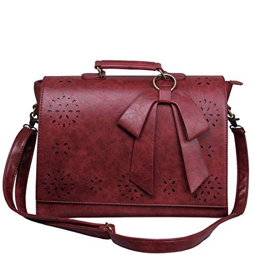 ECOSUSI Vintage Damen Schultasche Arbeitstasche Aktentasche Laptoptasche 14'