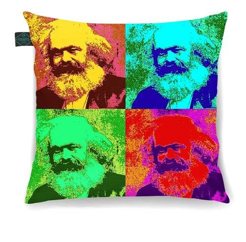Fantastica Almofada Decorativa Pop Arte Karl Marx 30x30